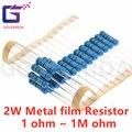 20pcs 2W Metal film resistor 1% 1R ~ 1M 2.2R 4.7R 10R 22R 47R 100R 220R 470R 1K 10K 100K 2.2 4.7 10 22 47 100 220 470 ohm
