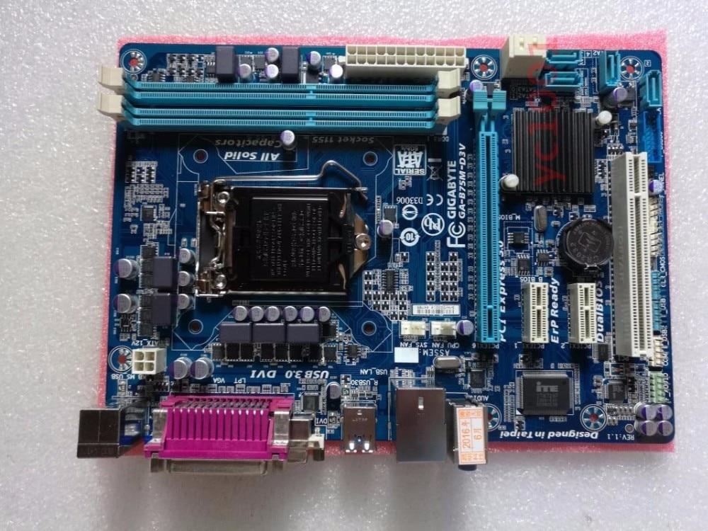 GIGABYTE GA-B75M-D3V Intel B75 LGA1155 DDR3 USB3.0//USB2.0 Motherboard ATX
