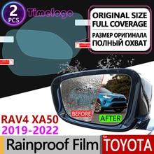 цена на For Toyota Rav4 XA50 2019 - 2020 RAV 4 50 Full Cover Anti Fog Film Rearview Mirror Rainproof Anti-Fog Films Clean Accessories