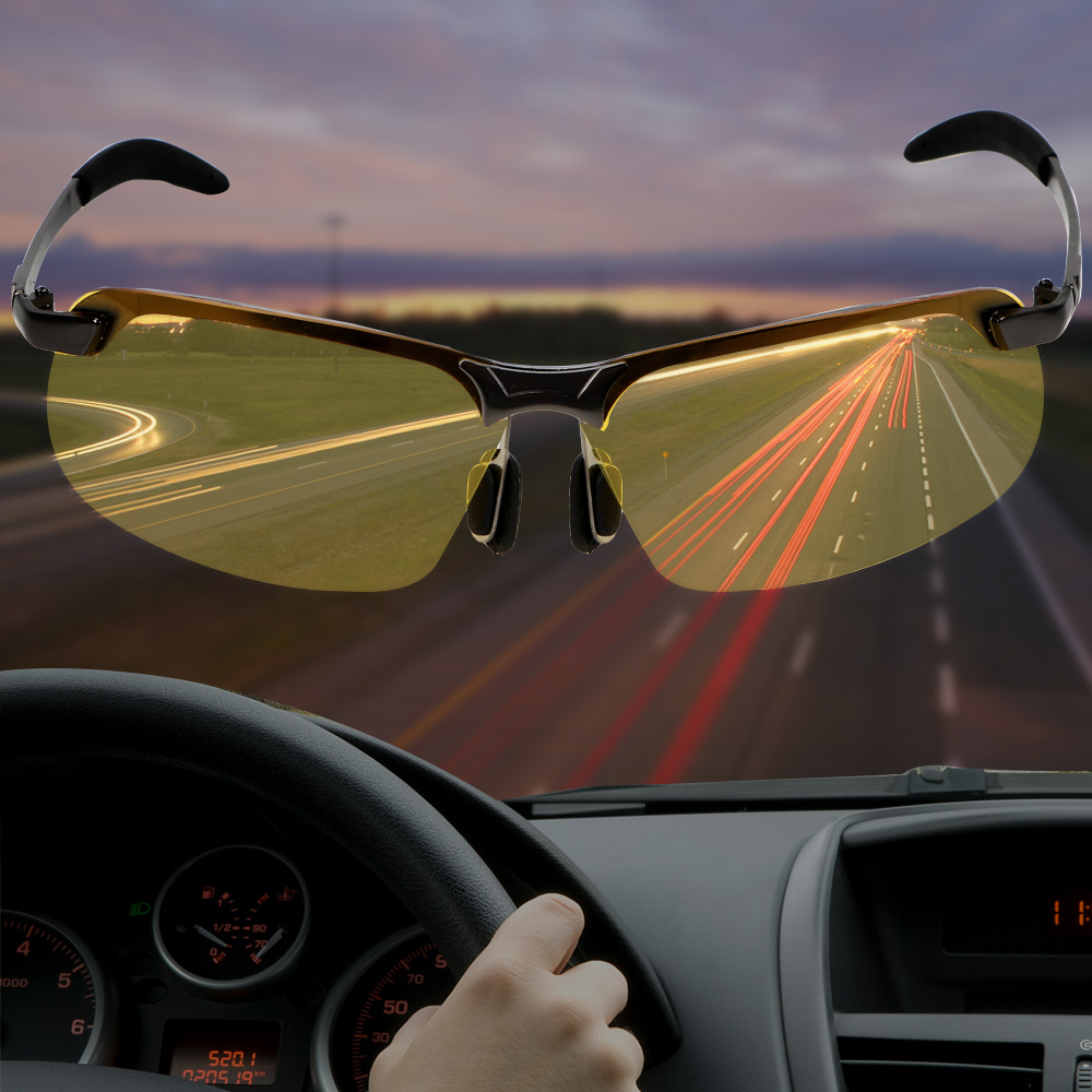 UV400 Driving Glasses  UV Protection Eyewear  Auto Accessories Polarized Sunglasses Car Driver Goggles Night Vision Sun Glasses