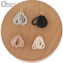 Design cordial 50 pçs 18*28mm acessórios de jóias/pingente/forma de gota/feito à mão/semente talão encantos/brinco descobertas/diy fazendo