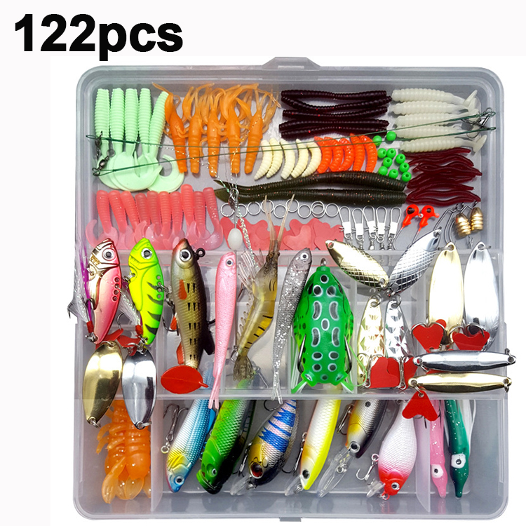 High Quality Fishing Lures Set 33/56/104/106/109/122/142/166/280pcs Hooks Minnow Pilers Lure Kits With Box Fishing Accessories
