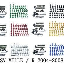 Мотоцикл Полный Обтекатель Болты Комплект болты для кузовных работ для Fit Aprilia RSV MILLE/R 2004-2008