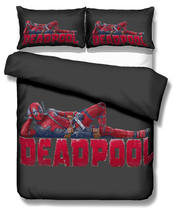 Musolei Marvel Deadpool 3D Bedding Set Queen Size Duvet Cover set comforter cover set bedclothes Home room Textiles(China)