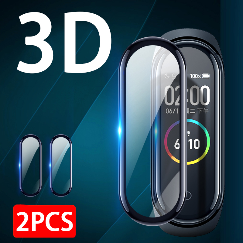 2pc 3D Full Cover Screen Protector For Xiaomi Mi Band 4 Soft Protective Film On Xiomi Band4 M4 Smart Bracelet Not Tempered Glass
