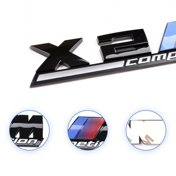 1 Pcs 3D ABS M Competition Logo Stickers Car Rear Trunk Badge Emblem For BMW E46 E39 E90 E34 E36 E53 E60 X5 E70 M3 M5 M6 car accessories front grille slot emblem vent bracket for m3 m5 m6 m2 m1 m4 m7 m8 m series m color car styling badge stickers