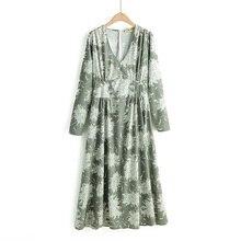 COZARII summer dress women vestidos casual style print V-Neck full sleeve straight de fiesta party tops plus size
