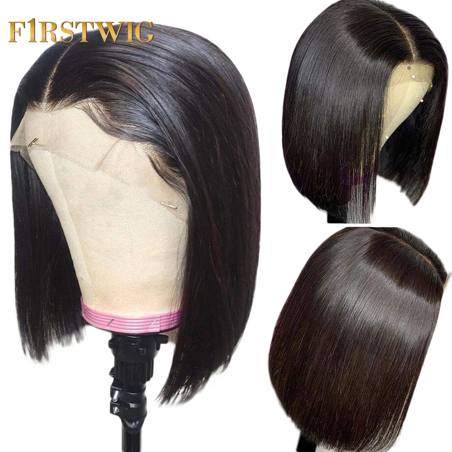 Lace Front Human Hair Wigs Brazilian Short  Straight BOB Afro Wig For Black Women Natural Long Hair 8 30 Inch Pre Plucked Remy