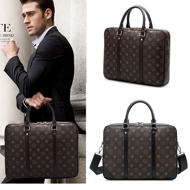 Europe And America Fashion Men Bag 2019 New Style Handbag Computer Briefcase Business Handbag Leisure Bag Shoulder Bag
