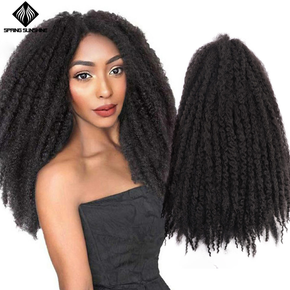 Spring Sunshine Soft Afro Kinky Natural Soft Marley Braiding Extension For Braids 18