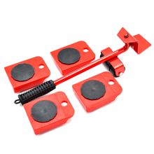 Moving Tools 5pcs/set Furniture Moving Transport Set Wheel Bar Furniture Transport Lifter Household Hand Tool Set