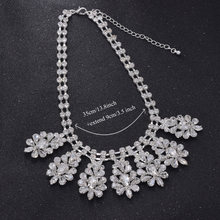 Top shiny Luxury rhinestones glass strass women party accessories bride necklace jewelry silver clear stone choker(China)