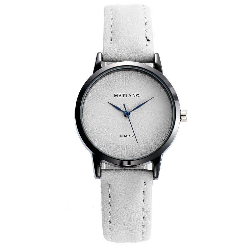 Women Fashion Watch Girl Casual Korean Style Watches Students Quartz Retro Wristwatch for Ladies Leather Vintage Clock Hot Sales