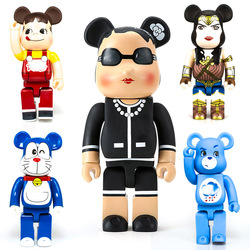 28CM Bear Doll Vinyl Model Toys Brick 400% Action Figure Collections Gifts Street Art Statues