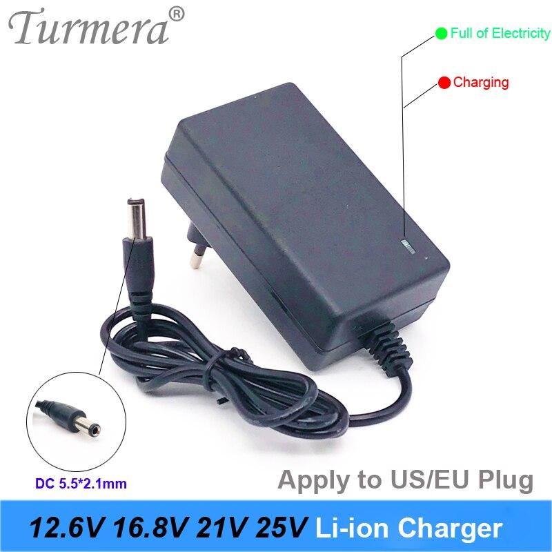 Зарядное устройство 2 а 12,6 в 16,8 в 21 в 25 в 18650, зарядное устройство для литиевых батарей 2,1 * мм постоянного тока для 3S 4S 6S 12 В до 25 в, используется ...