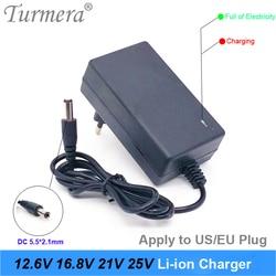 Charger 2A 12.6V 16.8V 21V 25V 18650 Lithium Battery Charger DC5.5*2.1MM for 3S 4S 5S 6S 12V to 25V Screwdriver Battery Pack Use