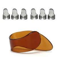 4 unids/set guitarra pulgar uñas guitarra de cuerda de púas para guitarra Accesorios para Instrumentos Musicales práctica
