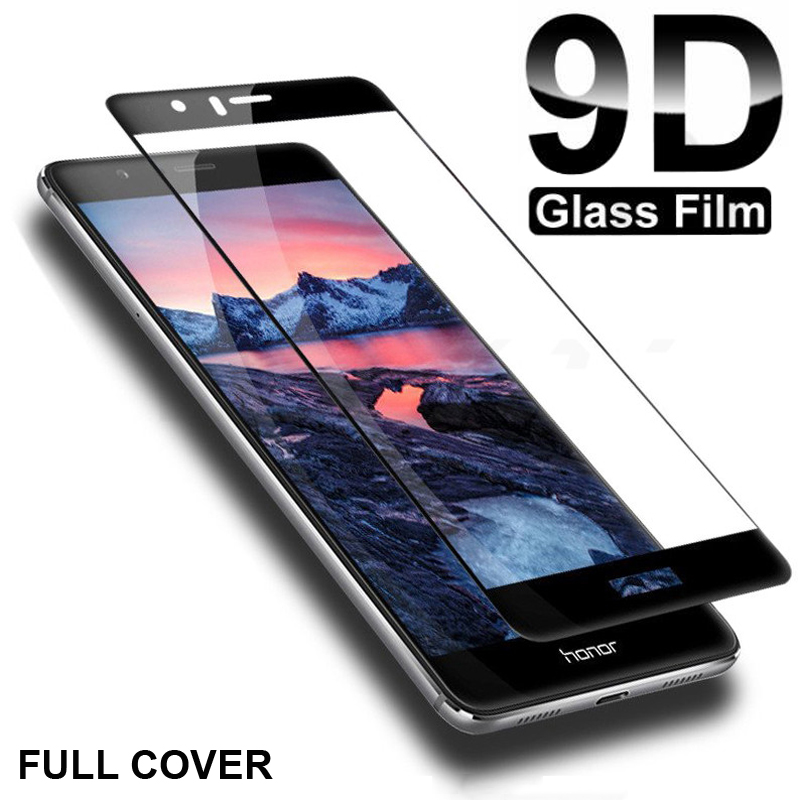 9D Full Cover Protective Glass For Huawei P9 P10 Lite P10 P9 Plus Tempered Glass For Honor 8 9 Lite V8 V9 Screen Protector Film