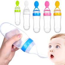 90 мл бутылочка для кормления ребенка силиконовая выдавливаемая бутылочка для кормления с ложкой еда рис мюсли подача для молочной формулы рисовая паста осторожно