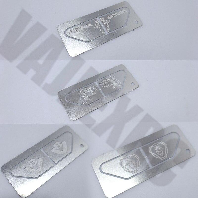 Крыло украшение металлический логотип для 1/14 весы Тамия дистанционного управления трактор Scania R470 R620 R730