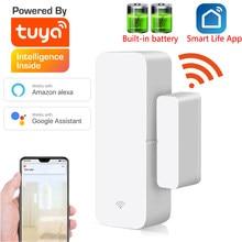 Sensor de porta inteligente tuya com wifi, detector de porta aberta/fechada compatível com alexa google home smar tlife app, livre personalizado logotipo do logotipo
