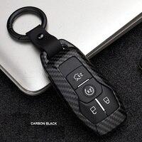 Carbon Faser Legierung Auto Remote Key Fob Shell Abdeckung Fall Für Ford Fusion Mondeo Mustang F 150 Explorer Rand 2015 2016 2017 2018|Schlüsseletui für Auto|   -