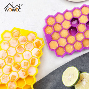 37 Ice Cream Tools Ice Cubes Honeycomb Ice Cream Maker Form DIY Pops Mould Popsicle Molds Yogurt Ice Box Fridge Treats Freezer image