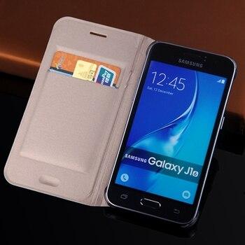 Slim Wallet Case For Samsung Galaxy J1 2016 J120 J120F J120H J120M Phone Sleeve Bag Flip Cover With Card Holder Business Purse 1