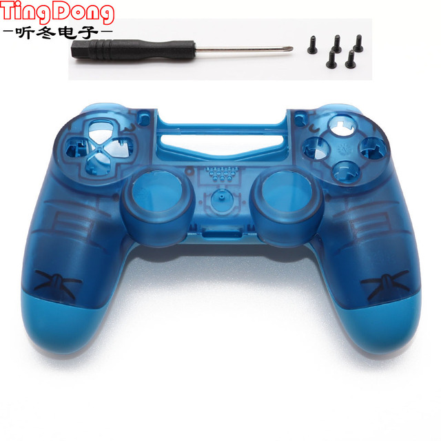 Açık Mavi PS4 PRO Konut Shell Faceplate Kılıf Değiştirme Playstation 4 Dualshock 4 Pro 4.0 V2 Denetleyici JDM 040 JDS 040