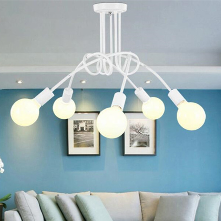 Modern Ceiling light Metal lamp decoration LED blub lighting europe Dining-room sitting room vintagre store indoor AC85-265V