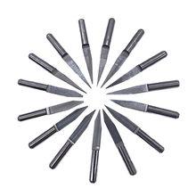 10 pces 10/15/20/25 graus 3.175 1/8 pcb gravura bit v shap ponta end mill carboneto de tungstênio pcb 3d fresa