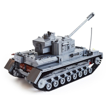 1193 pcs Big tank Blocks World War II Large Panzer IV Tank Military tank Model Building Blocks DIY Bricks Gifts toys for boy недорого