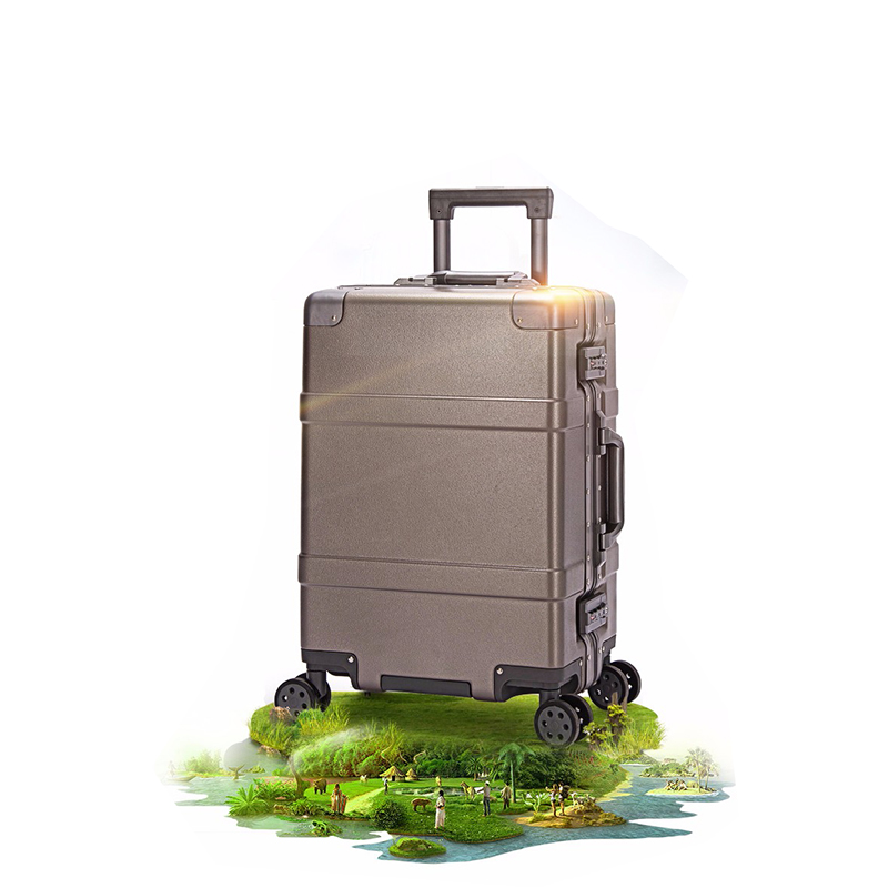 Colorful flowers 100% aluminum frame 20/24/28 inch size high quality Rolling Luggage Spinner brand Travel Suitcase - 2