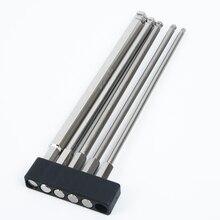 5 stücke 150mm Ball Kopf Hex Schaft Bit S2 Magnetische Elektrische Schraubendreher Bit H3,H4,H5, h6, H8 Für Bohrmaschine