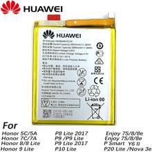 Oryginalny 3000mAh HB366481ECW bateria do huawei honor 8 8 9 lite honor 5C Ascend P9 huawei P10 P9 Lite G9 telefon + numer śledzenia tanie tanio 2801 mAh-3500 mAh ROHS Zużytego sprzętu elektrycznego i elektronicznego MSDS BSMI MEPS SASO nemko For Huawei p9 p9 lite honor 8 p10 lite y6 II p8 lite 2017 p20 lite p9l
