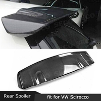 For Volkswagen VW Scirocco Spoiler 2009 2014 Carbon Fiber Rear roof Lip Spoiler Window Tail Wings Car Styling