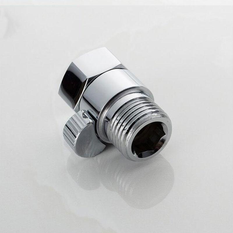 G 1/2 Copper Shower Head Shut-Off Valve Quick Open Adapter Valve Flow Regulator Stop Switch For Shower Head Hand Bidet Sprayer