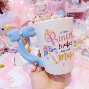 Image 2 - 201 300ml fée princesse baguette magique poignée tasse belle bande dessinée Action Figure imprimé en céramique café thé tasse filles anniversaire cadeau