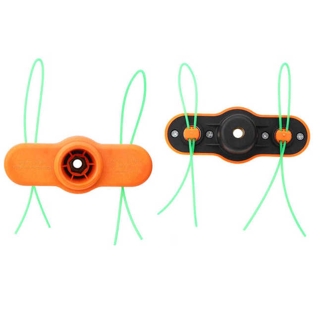 Nylonowa głowica trymera trawa kosa do zarośli części do kosiarek z 2 liniami Strimmer tanie i dobre opinie WALFRONT Na benzynę gaz Trimmer Head Teleskopowa rączka Żarnik