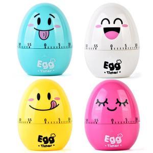 2020 New Fun Kitchen Egg Timer 60 Minutes Cartoon Cute Cooking Clock Alarm Clock Mechanical Home Decoration(China)
