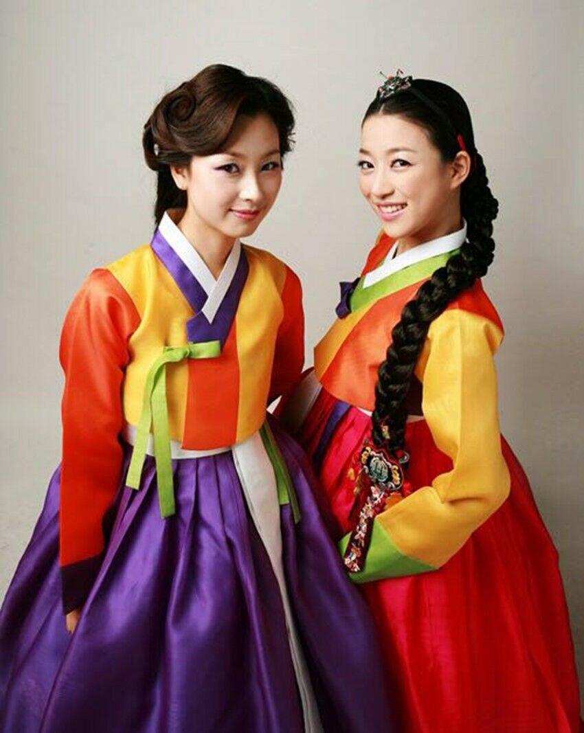 Hanbok Dress Custom Made Korea Traditional Woman Hanbok Modern High Waist Hanbok