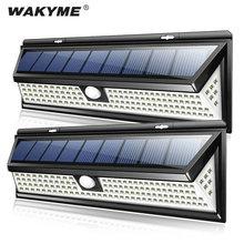 WAKYME-Lámpara de pared con Sensor de movimiento PIR para decoración de jardín, luz de seguridad de emergencia alimentada por energía Solar, impermeable, 118 Luces Solares LED