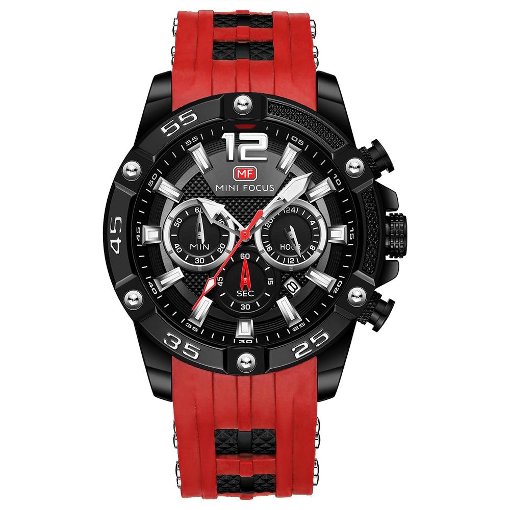 MINI FOCUS Fashion Sport Watch Men Waterproof Mens Watches Top Brand Luxury Quartz Relogio Masculino Reloj Hombre Silicone Strap|Quartz Watches| - AliExpress