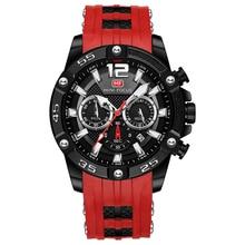 MINI FOCUS Fashion Sport Watch Men Waterproof Mens Watches Top Brand Luxury Quartz Relogio Masculino Reloj Hombre Silicone Strap