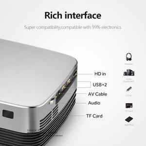 Image 5 - アウンミニプロジェクターQ6/s (オプションのアンドロイド 10 テレビボックス) 1280 × 720 1080pビデオプロジェクター。ポータブル 3Dビデオシネマサポート 1080p、ホームシアター