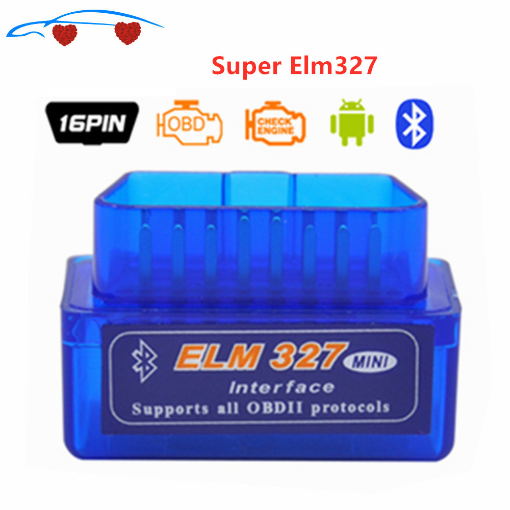 Super MINI ELM327 OBD2 Code Reader Bluetooth V 2,1 Diagnose Werkzeug ULME 327 Multi-Sprache Funktioniert AUF Android/PC ELM327 Interface