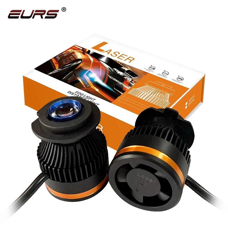 EURS LED H7 H8 H9 H11 Laser Spot Light HB3 HB4 Car Headlights Motorcycle Spotlight Off Road Car Fog Light Bar Led Working Lights