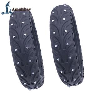 Image 2 - Elektrische Roller Schnee Reifen Eis Reifen für Xiaomi M365 / M365 Pro Roller Nicht Pneumatische Solide Reifen Stoßdämpfer nicht slip Reifen