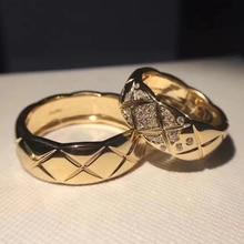 Gioielli in argento Sterling 925 puro di marca calda per donna uomo C anelli di schiacciamento anelli di losanga da sposa in argento anelli geometrici di fidanzamento