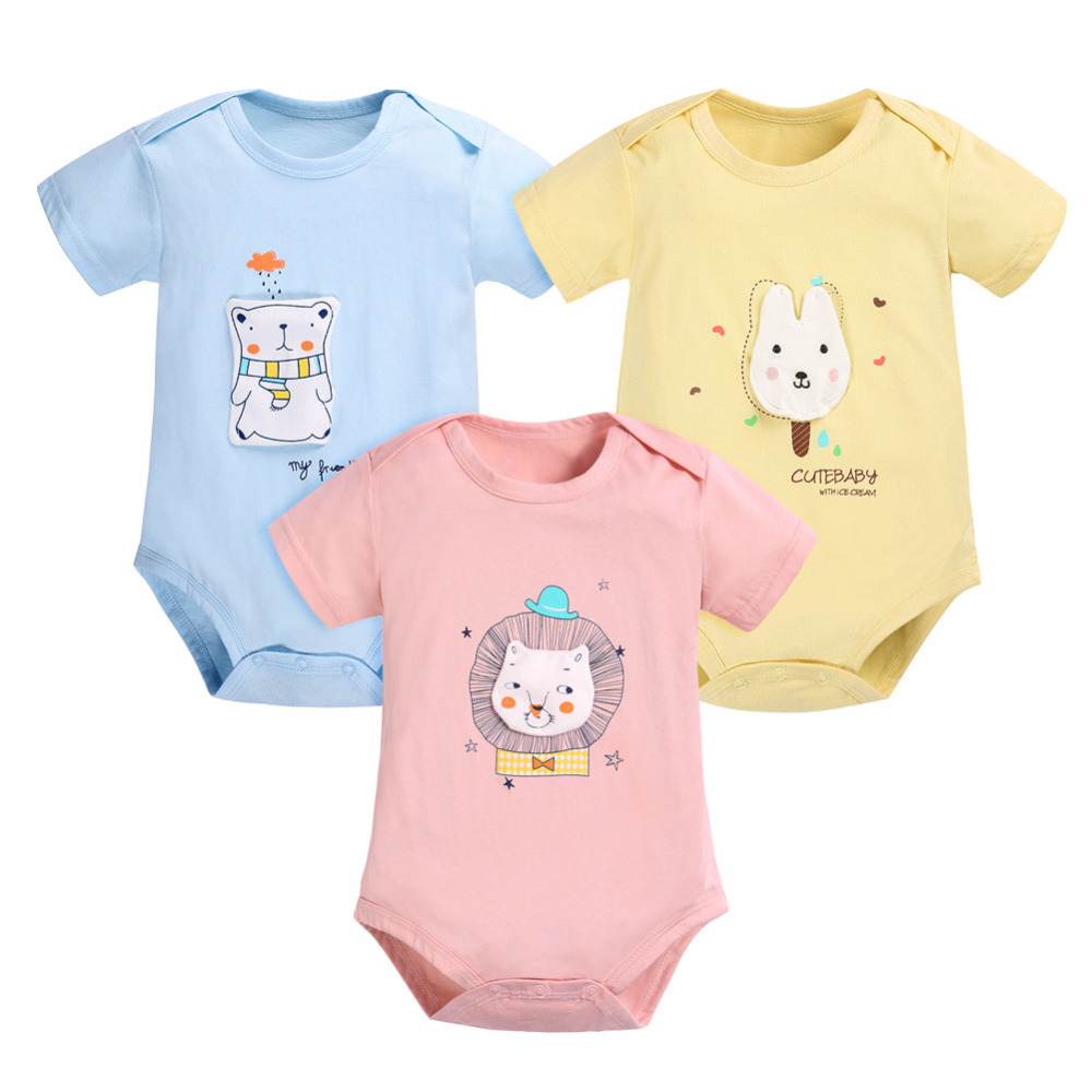 Baby Cartoon Workers Bodysuits Long Sleeve Rompers Outfits Casual Clothes